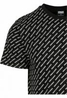 Allover Logo Tee negru Urban Classics