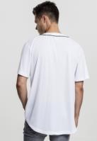 Bluza baseball Mesh alb-negru Urban Classics