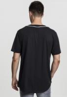 Bluza baseball Mesh negru-alb Urban Classics