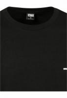 Bluza cu logo lejer Cut On Sleeve negru-alb Urban Classics