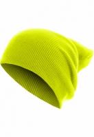 Caciula Beanie Basic Flap Long Version galben neon MasterDis
