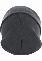 Caciula Beanie Basic Flap Long Version gri deschis MasterDis