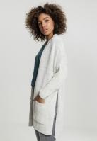 Cardigan supradimensionat pentru Femei alb-gri Urban Classics