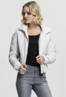 Geaca moderna supradimensionata cu guler inalt pentru Femei alb Urban Classics