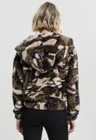 Geaca pufoasa imprimeu camuflaj pentru Femei wood-camuflaj Urban Classics
