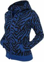 Hanorace dama cu model zebra cu fermoar