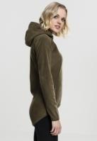 Hanorac moale polar cu fermoar pentru Femei oliv Urban Classics