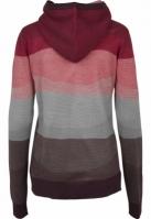 Hanorac Multicolored cu guler inalt pentru Femei rosu-multicolor Urban Classics