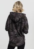 Hanorac supradimensionat Camo pentru Femei inchis-camuflaj Urban Classics