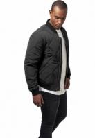 Jacheta Big matlasata Bomber negru Urban Classics