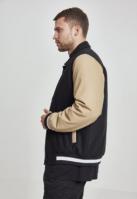Jacheta Collar College negru-bej Urban Classics