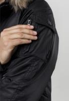 Jacheta cu gluga Heavy Fake Fur Bomber negru Urban Classics