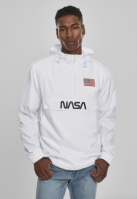 Jacheta Pulover NASA Worm Logo alb Mister Tee