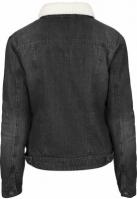 Jacheta Sherpa Denim pentru Femei negru-washed Urban Classics