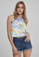 Maiou larg Short Tie Dye pentru Femei pastel Urban Classics