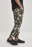 Pantaloni Cargo Geometric Camo Stretch Twill wood-camuflaj Urban Classics