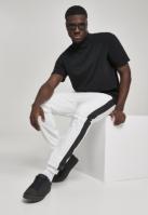 Pantaloni de trening Side cu dungi Crinkle alb-negru Urban Classics