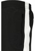 Pantaloni de trening Side cu dungi Crinkle negru-alb Urban Classics