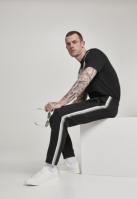 Pantaloni de trening Side Taped negru-gri Urban Classics