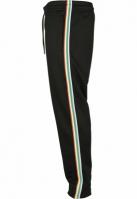 Pantaloni de trening Side Taped negru-multicolor Urban Classics