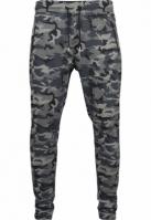 Pantaloni Interlock Camo inchis-camuflaj Urban Classics