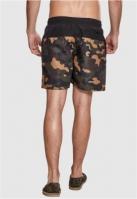 Pantaloni scurti inot negru-camuflaj