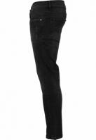 Pantaloni Skinny denim stretch cu taieturi negru-washed Urban Classics