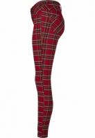 Pantaloni Skinny Tartan pentru Femei rosu-negru Urban Classics