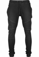 Pantaloni sport Biker Denim negru-washed Urban Classics