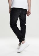 Pantaloni sport tricot Denim negru-washed Urban Classics