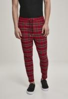 Pantaloni Tartan rosu-negru Urban Classics