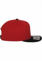 Sepci rap Snapback 110 Fitted rosu-negru Flexfit