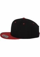 Sepci rap Snapback Classic 2-Tone negru-rosu Flexfit