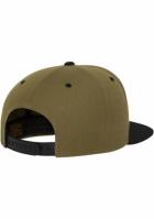 Sepci rap Snapback Classic 2-Tone oliv-negru Flexfit