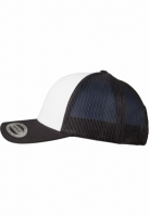 Sepci Retro Trucker Colored Front negru-alb Flexfit