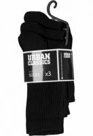 Set de 3 Sosete Sport negru Urban Classics