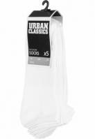Sosete No Show 5-. alb Urban Classics