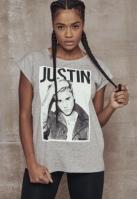 Tricou Justin Bieber pentru Femei deschis-gri