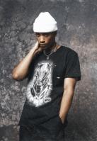 Tricou negru Panther Spray Headshot negru Merchcode