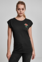 Tricou Rose pentru Femei negru Mister Tee