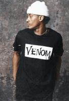 Tricou Venom Face negru Merchcode