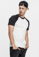 Tricouri casual in doua culori pentru barbati alb-negru
