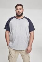 Tricouri casual in doua culori pentru barbati gri-bleumarin