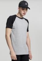Tricouri casual in doua culori pentru barbati gri-negru Urban Classics