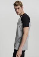 Tricouri casual in doua culori pentru barbati gri-negru