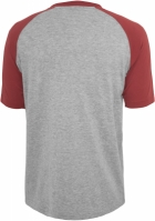 Tricouri casual in doua culori pentru barbati gri-rubin