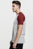 Tricouri casual in doua culori pentru barbati gri-rusty
