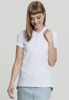 Wash Polo Tee pentru Femei alb Urban Classics
