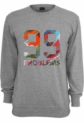 99 Problems Art Crewneck gri Mister Tee