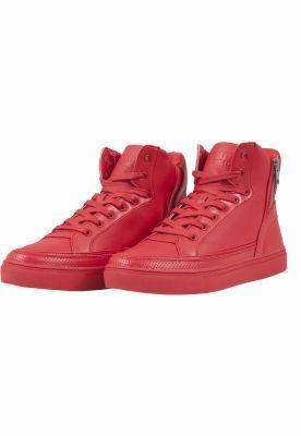 Adidasi inalti cu fermoar foc-rosu Urban Classics